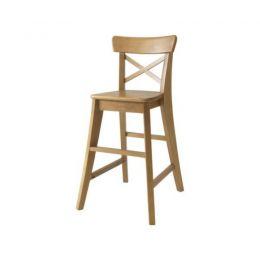 IKEA INGOLF augstais ēdamkrēsliņs (brūns)