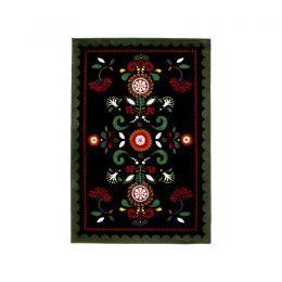 ÅKERKULLA paklājs (melns, daudzkrāsains)