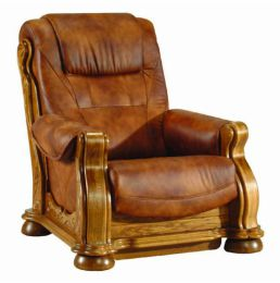 Ādas krēsls Cezar II