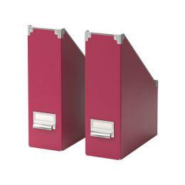 KASSETT Dokumentu kastes (2 gab., tumši rozā)