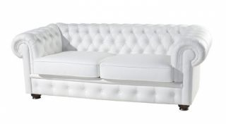Ādas dīvāns - gulta Chesterfield Kanapa 3r