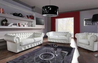 Ādas dīvāns Chesterfield 3n