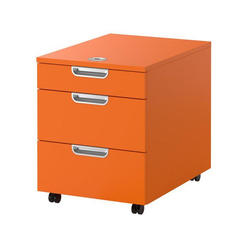 GALANT Kumode ar riteņiem (oranža)