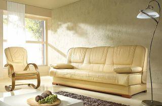 Ādas dīvāns - gulta Finka kanapa 3R