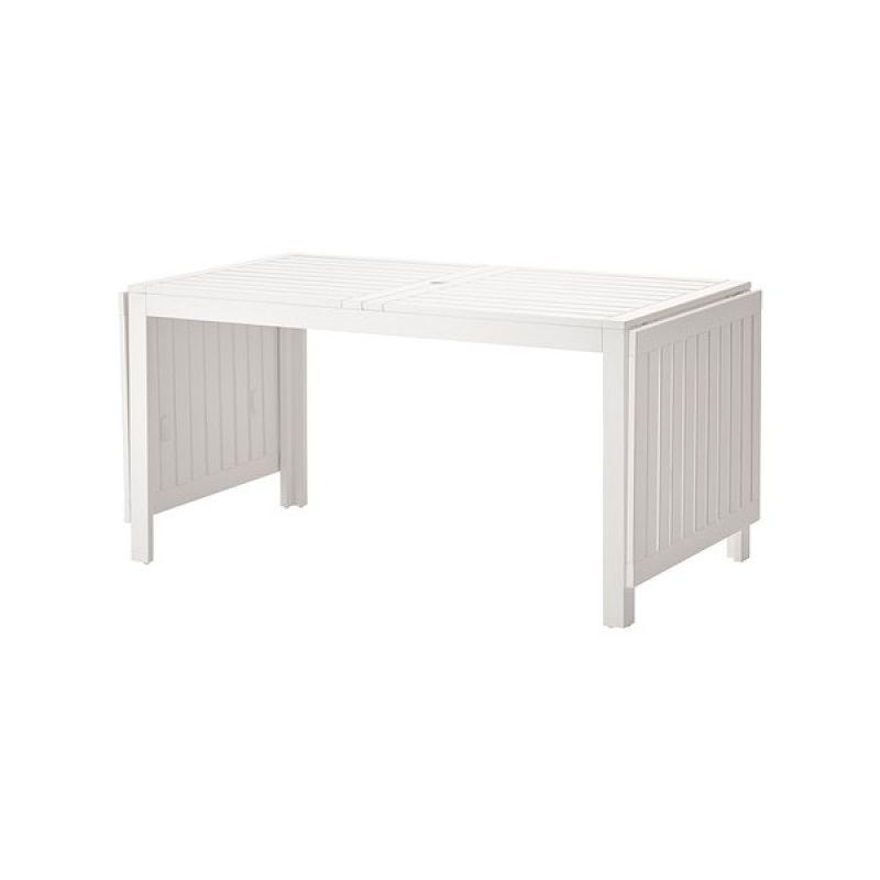 ÄPPLARÖ (saliekams galds, balts)