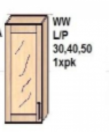 Skapītis WW L/P 30,40,50, 1xpk AMANDA