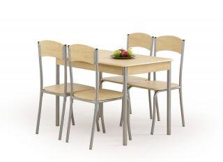 Galds + 4 krēsli Longin (gaišs)