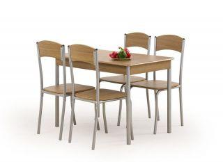 Galds + 4 krēsli Longin (tumšs)