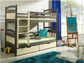 Bērnu divstāvu gulta Jakub krās.