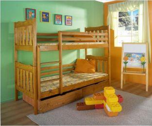Bērnu divstāvu gulta Hubert