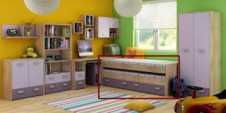 Divvietīga gulta Kitty KIT-08 bes restēm