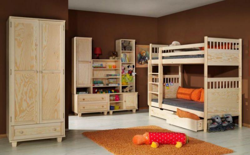 Bērnu gulta Konrad krās.