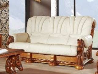 Ādas dīvāns-gulta Mustang 3r