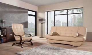 Ādas dīvāns-gulta Eryk 3r